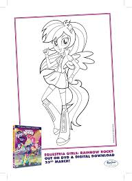 Small Picture Image Rainbow Dash Rainbow Rocks coloring pagepng My Little