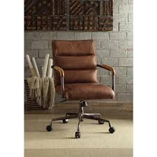vintage leather office chair. acme furniture harith top grain leather office chair in retro brown vintage