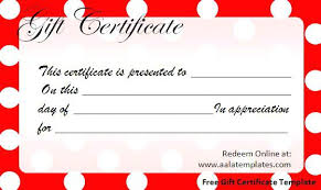 Free Printable Gift Certificate Templates Certificates Online Print