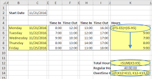 Excel Employee Time Sheet Time Sheet In Excel Easy Excel Tutorial