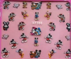 Trblietavé Samolepky Na Nechty So Vzorom Hallo Kitty Mickey Mouse