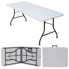 lifetime foldable long picnic table light commercial 75x180 122 152cm