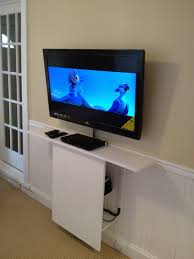 tv wall mount shelves ikea white stained wooden shelf with cable management modify this for our ers leksvik modern furniture design ideas media storage