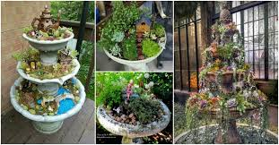 fountains for gardens. How To Turn Broken Fountains And Bird Baths Into Amazing Planters For Gardens