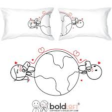 amazon boldloft love has no distance couples pillowcases long distance relationships gifts long distance gifts for couples valentines day gifts for him