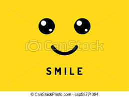 Happy Smile Smiling Face On Yellow Background Laughter Logo Funny Vector Banner