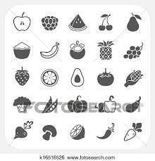 果物と野菜 アイコン で フレーム 背景 クリップアート
