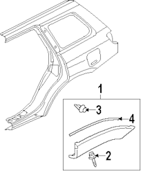 Genuine mitsubishi flare rivet mit mr492093