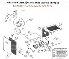 e1eh015h nordyne electric furnace parts hvacpartstore Nordyne Model Numbers click here to view a parts listing for the e1eh015h which includes partial wiring diagrams that we currently have available