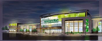 night rendering of nebraska furniture mart of texas