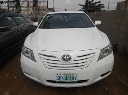 toyota camry 2007 white. neatly used 2007 white toyota camry for sale 1100000 autos nigeria