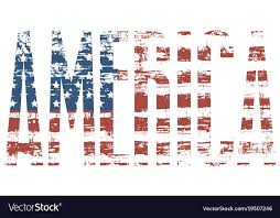 american flag word art graphic image of the word america with usa flag vector image
