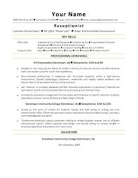 Front Desk Receptionist Sample Resume Amusing Receptionist Sample Resume Objective Also Awesome List Of 11