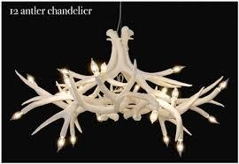 the white ceramic superordinate antler chandelier