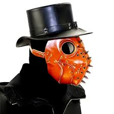 brown spike rivet steampunk mask gothic pu leather mask the pe doctor bird mask vintage