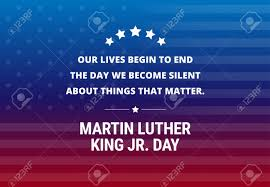 Martin Luther King Jr Day Holiday Vector Background Inspirational
