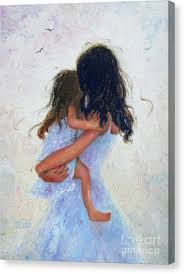 little black girl canvas print mother and daughter hugs by vickie wade on little black girl wall art with little black girl canvas prints page 5 of 21 fine art america