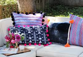 pom pom pillow. Perfect Pillow Pompompillows16 Intended Pom Pillow T