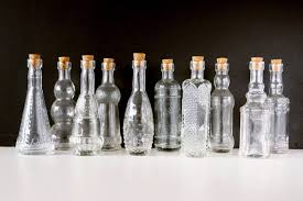 Decorative Clear Glass Bottles Decorative Clear Glass Bottles with Corks 1000 tall Set of 100 2