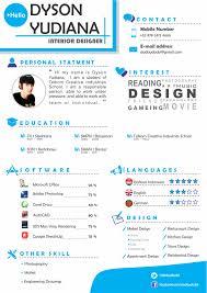 Cv Interior Design Portfolioleave Behind Examples Free Resume