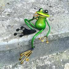 garden frog statues home animal shelf sitting metal garden frog statue reviews large outdoor frog statues