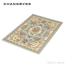 2019 retro printing floor mats carpet anti slip bathroom rug set bathroom rugs mats for bathroom and toilet alfombra tapis bain living room mats from