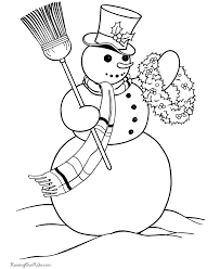 Small Picture Snowman Coloring Pages Free and Printable