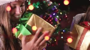 Santa Claus Giving Gifts On Christmas Eve Stock Footage Video Giving Gifts On Christmas