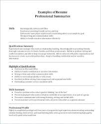 Qualification Summary Resume Magnificent Summary For Resume Professional Summary Resume Examples Resume