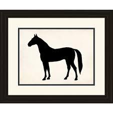 horse silhouette framed wall art on horse silhouette wall art with ptm images 25 in x 29 in horse silhouette framed wall art 2 9478
