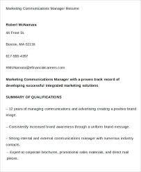 40 Marketing Resume Templates PDF DOC Free Premium Templates Cool Communications Manager Resume