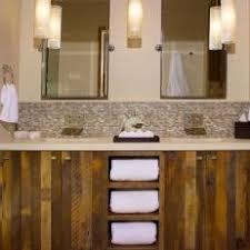 rustic bathroom double vanities. Exellent Rustic Reclaimed Wood Double Vanity In Rustic Bathroom Inside Vanities