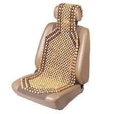 natural wood beaded seat cushion