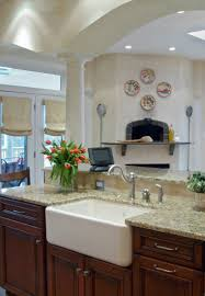 Kitchens With Farmhouse Sinks Apron Front Sink On The Level