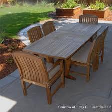 teak outdoor patio dining set agean table zaire chair