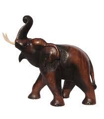 0004 0002 trunk up elephant 10 inch raw
