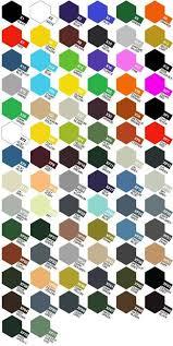 Tamiya Paint Chart Carta De Colores Tamiya Paint Charts Acrylic Colors
