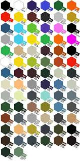 Carta De Colores Tamiya Paint Charts Acrylic Colors