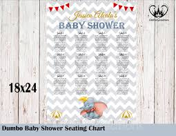 Table Seating Chart Baby Shower Dumbo Baby Shower Seating Chart Baby Shower Seating Chart Pdf Digital