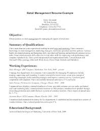 Resume Objective For Retail Enchanting Resume Objectives Retail Resume Objective For Retail Management