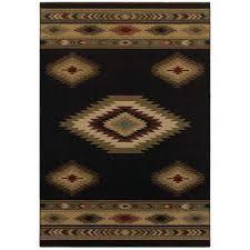 aztec black 10 ft x 12 ft area rug