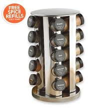 Kitchen Spice Rack Pfaltzgraff Kamenstein 20 Jar Revolving Spice Rack Kitchen