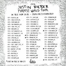 1 Justin Bieber Purpose Tour Ticket For March 21 2015 At