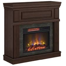 home decorators collection grantley 40 in freestanding electric fireplace in midnight cherry