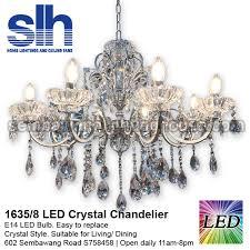 cc1 1635 8 a crystal chandelier led semba