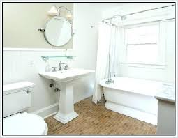 kohler memoirs pedestal sink 24 contemporary traditional powder room with hardwood floors specialty door in 10 decorating