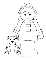 Small Picture Girl Firefighter and Dog Coloring Pages 30743 Bestofcoloringcom