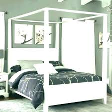 King Size Canopy Bed With Curtains Queen – VinnyMo
