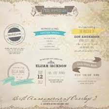 birth announcement templates birth announcement overlays vol 2 overlays ba2 10 00