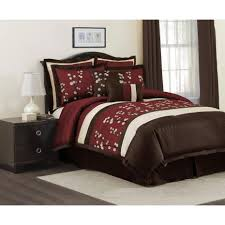 lush decor red cocoa flower piece comforter set  free shipping